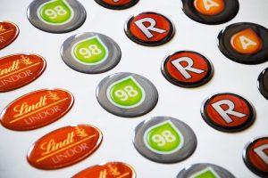 etiquetas de resina